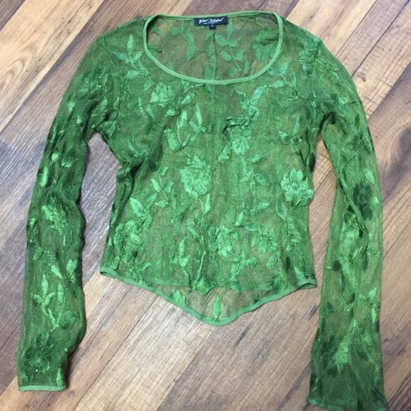 Betsey Johnson Tops - ⭐️⭐️⭐️ ISO  Green Lace Betsey Johnson Top ⭐️⭐️⭐️